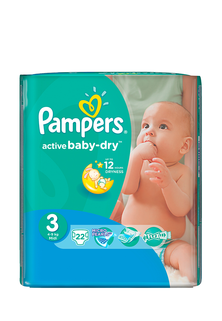 Подгузники pampers active baby, 3 (4-9 кг), 22 шт. Pampers